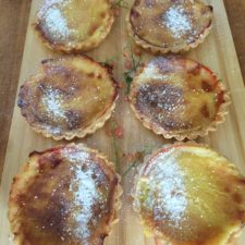 Pink Currant & Custard Tarts
