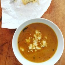 Roast Swede Soup with a bit of Stilton