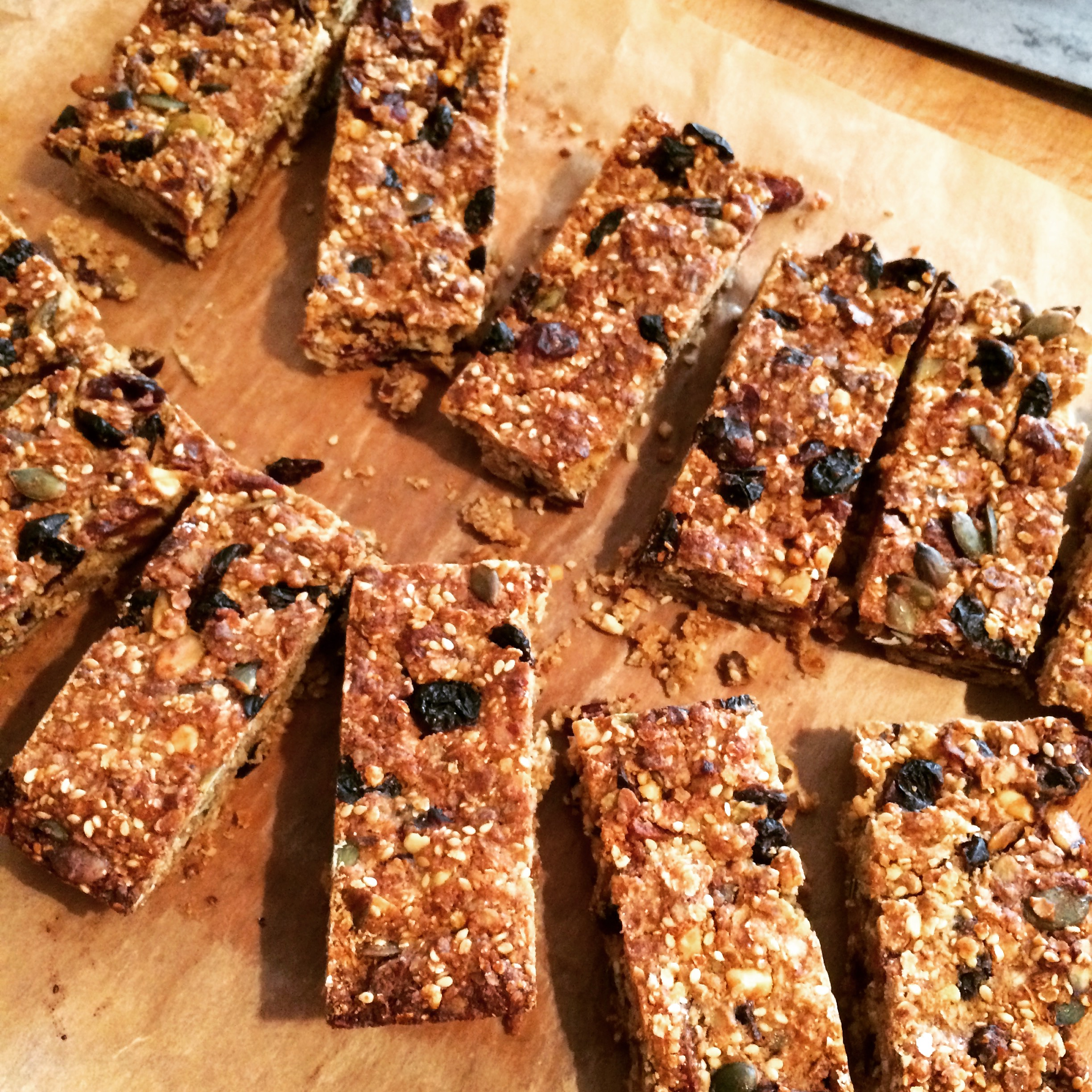 Chewy Cranberry and Apricot Granola Bars